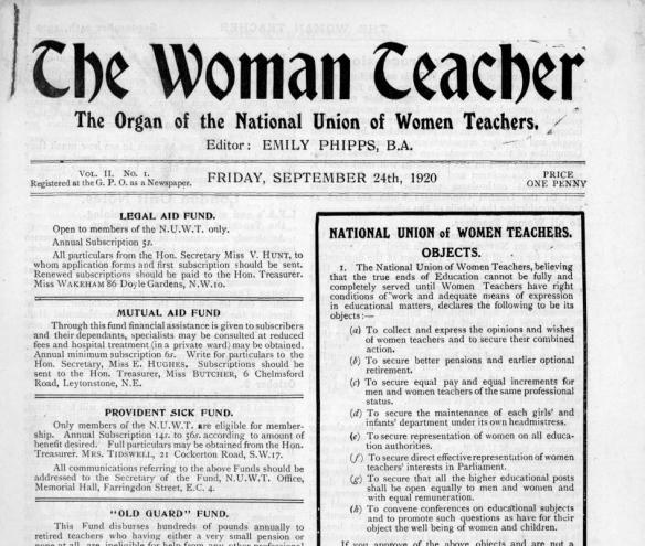 Quality Checking the NUWT's journal publication, 'The Woman Teacher'